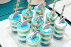 Stacked Cake Dessert Cups from a Rustic Beach Ball Birthday Party via Kara's Party Ideas! KarasPartyIdeas.com (24)