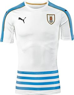 6f14cdc7b26f5 The new Uruguay 2016 Copa America Centenario Away Jersey is inspired by the  famous flag featuring a unique stripes design on the front.