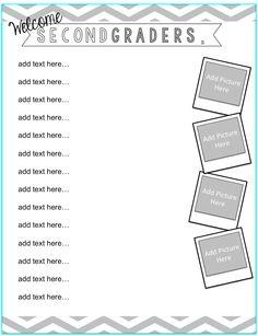FREE Meet the Teacher letter template for grades K-6