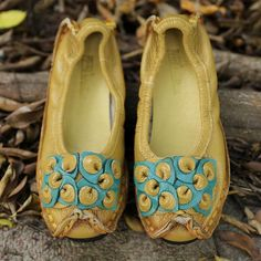 Ethnic Vintage Women Round Head Splicing Single Shoes