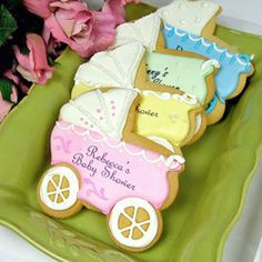 Baby Shower Cookies!  Could use as a party favor :-) why couldn't I think of something like this when I had my baby shower!!