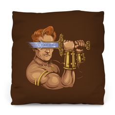 Late Night Barbarian Outdoor Throw Pillow