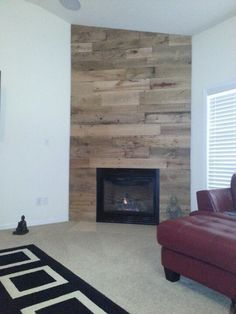 Reclaimed Wood Fireplace Surround And Mantel Fireplaces