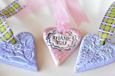 stamped salt dough tags tutorial - nice detailed tutorial with plenty of pics - very good overview with optional painting steps - great for #ornaments or #GiftTags - #SaltDough #Crafts - pb†å