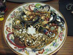 Vintage Mixed Jewelry Lot Rhinestone Wearable Earrings Pins Bracelets Bolo #2
