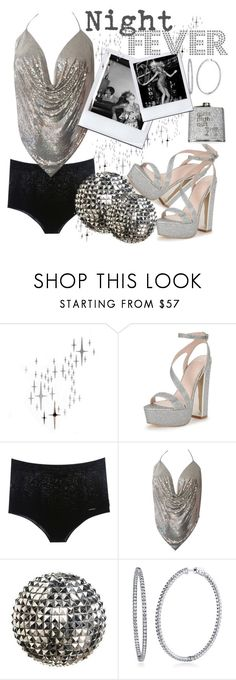 """Saturday night at studio 54"" by xmoonagedaydreamx ❤ liked on Polyvore featuring DOMESTIC, Lipsy, COSTUME NATIONAL, BERRICLE, Jagger, 70s, glitter, glam and studio54"