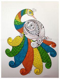 PepUp Street, Gond, tribal art, Indian art, Pep Up Street Madhubani Paintings Peacock, Madhubani Art, Indian Paintings, Animal Paintings, Gond Painting, Buddha Painting, Oil Pastel Art, Indian Folk Art, Peacock Art