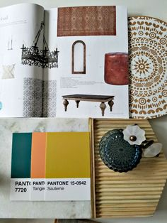 Inspired Kitchen Mood Board | Carpet One Floor & Home | Twenty of 2020 - The Boho Abode Peacock Painting, Boho Kitchen, Spanish Revival, Cream Flowers, Glass Knobs, Types Of Flooring, Painting Cabinets, Muted Colors, Colorful Decor