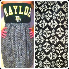 Baylor Bears Game Day Dress by ClaireLizzyDesigns on Etsy, $45.00