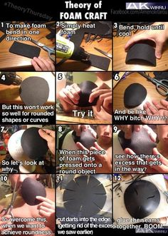 Making rounded shapes using foam #cosplay