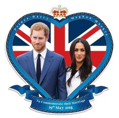 Prince Harry and Meghan Markle Royal Commemorative Wedding Wall Cardboard Cutout perfect for parties!