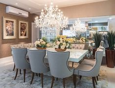 Image about luxury in — interior/exterior. by 𝐦𝐚𝐫𝐢𝐞 ♡ Luxury Dining Room, Kitchen Decor Themes, Dining Room Design, Kitchen Decor Apartment, Dining Room Decor, Interior Design, Living Room Loft, House Interior, Apartment Interior