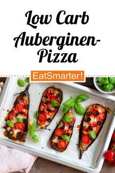 Low Carb ohne Fleisch: Low Carb Auberginen-Pizza - kalorienarm - einfaches Gericht - So gesund ist das Rezept: 9,7/10 | Eine Rezeptidee von EAT SMARTER | Kochtechnik, Ofengebacken, Küchengeräte, Backofen, Messer, Ernährung, Gesunde Ernährung, Kalorienarm, Low Carb, Mineralstoffreich, Ohne Ei, Ohne Fleisch, Spezielles, Was koche ich heute, Einfach, Mahlzeit, Mittagessen, Abendessen, Hauptspeise #lowcarb #gesunderezepte Eat Smarter, Superfood, Tacos, Favorite Recipes, Cooking, Ethnic Recipes, Healthy Recipes, Mediterranean Pizza, Eat Lunch