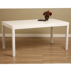 White Wood Dining Table - Overstock Shopping - Great Deals on Dining Tables