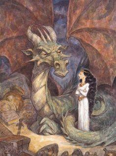El drac malvat de Ricard Bonmatí.Il.lustració Peter de Seve