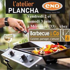 Atelier Plancha ENO vendredi 2 et samedi 3 juin chez @barbecueandco à Mérignac - Bordeaux (33) - Cours de cuisine à la plancha avec un chef pour apprendre à cuisiner sur la Plancha ENO. Conseils et astuces de cuisson et de nettoyage. Cours de cuisine sur réservation auprès du magasin au 05 56 18 97 98