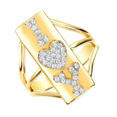 I Heart Y Ring | Red C Jewels #jewelry #ring #diamond #iloveyou #promisering #goldring