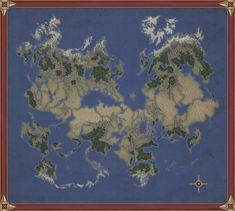 by Kaloith on DeviantArt Fantasy World Map, Fantasy City, Imaginary Maps, Rpg World, Rpg Map, Geography Map, Dungeon Maps, Fantasy Setting, Fantasy Inspiration