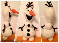 Crochet Olaf the Snowman - PDF Pattern - Amigurumi - from Disney Movie Frozen Crochet Olaf the Snowman - PDF Pattern - Amigurumi - from Disney Movie Frozen Crochet Disney, Olaf Crochet, Frozen Crochet, Crochet Gratis, Crochet Amigurumi Free Patterns, Cute Crochet, Crochet Toys, Knit Crochet, Ravelry Crochet