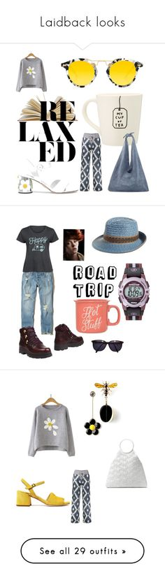 """Laidback looks"" by aqualyra ❤ liked on Polyvore featuring Prada, Krewe, The Row, tomboy, Hollister Co., Eric Javits, LC Trendz, Camper, Clay Art and Sonia Rykiel"