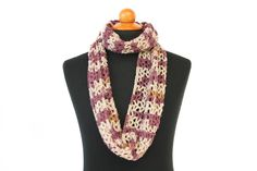 Crochet simple and elegant Infinity Scarf in Delicate Purple color scheme.It is made with 20% Wool & 80% Premium Acrylic yarn, very soft, warmand beautiful color way. Scarf style is closed circle, which can be wrapped twice around neck. It is perfect gift for her or him.  Scarf's measurement: Width : 18 cm (7″) Length: 72 cm (28.5