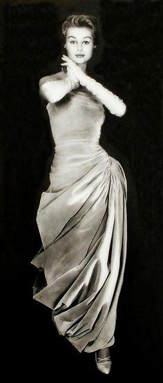 Madame Gres dress 1950s