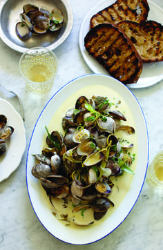 The Pacific Northwest is known for its amazing seafood. Try Seattle Chef Renee Erickson's variation on clams with wine and cream.