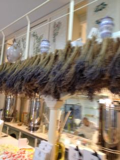 Lavender hanging to dry at a parfumery I visited in Capris, Italy