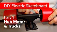 Part DIY Electric Skatboard, Hub Motor & Trucks — Kaspars Dambis Skate Electric, Diy Electric Skateboard, Motorized Skateboard, Skateboard Parts, Cheap Electricity, Skateboards, Diy Projects, Trucks, Solar Energy