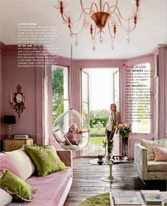 daring color combo pink and chartreuse