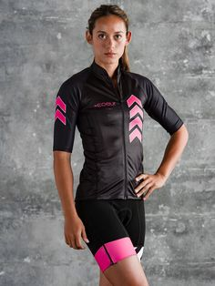 Zele Women's Speed Cycling Jersey - Pink and Black #performancebikecycling