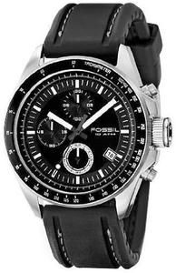af921f957cd Fossil Decker - Men s Black PU Chrono Watch Fossil Watches For Men