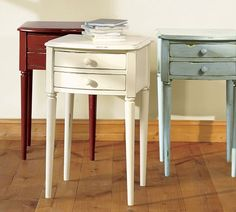 Charlotte Bedside Table - Antique White - GUEST ROOM