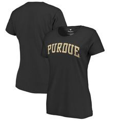 Purdue Boilermakers Fanatics Branded Women's Basic Arch T-Shirt - Black
