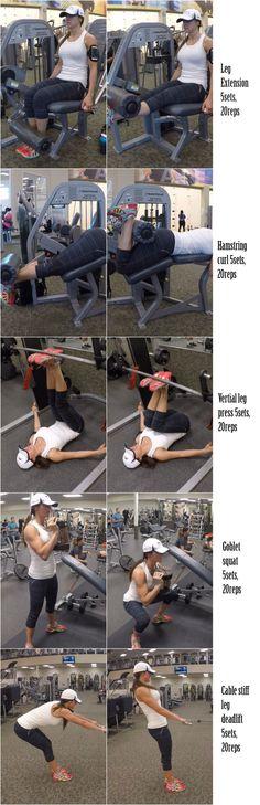 5 LEG SCULPTING EXERCISES   Fitness Food Diva
