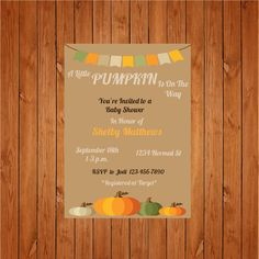 The product Baby Pumpkin Invite is sold by Personally Graphic in our Tictail store.  Tictail lets you create a beautiful online store for free - tictail.com