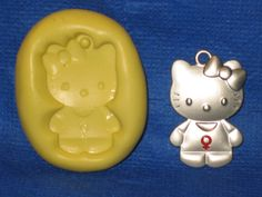 Girl Kitty Cat Character Silicone Push Mold Resin Clay Candy #415 Chocolate Soap #LobsterTailMolds