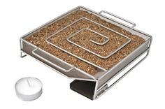 Designed to produce smoke for up to 10 hours, the easy to use ProQ™ Cold Smoke Generator is a perfect addition for a BBQ that has a lid or a Food Smoker when smoking food. To use, fill the container with approximately 100 grams of smoking wood du Barbecue Grill, Grilling, Mozzarella, Best Deep Fryer, Smoked Cheese, Cuisines Diy, Smoke Grill, Smoking Recipes, Wood Fired Oven