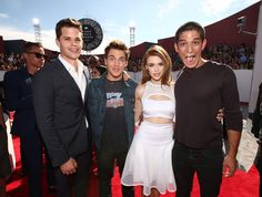 Dylan Sprayberry, Arden Cho, Max Carver, Holland Roden and Tyler Posey attend the 2014 MTV Video Music Awards at The Forum on August 24, 2014 in Inglewood, California.