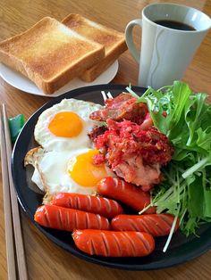 風流料理人's dish photo 2016 10 2 朝ごはん 府中 | http://snapdish.co #SnapDish #レシピ #簡単料理 #朝ご飯 #再現料理