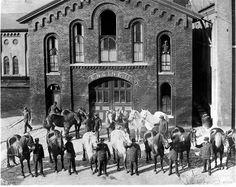1880s Buffalo NY Firefighters Fire Station Co. #13 Photo Retro Snapshots