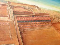 Reconstrucción de la huaca de la luna de la cultura mochica