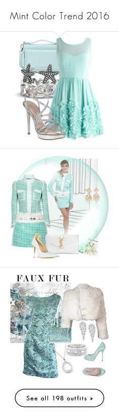 """Mint Color Trend 2016"" by yours-styling-best-friend ❤ liked on Polyvore featuring Vince Camuto, Gemvara, Pelle Moda, Bling Jewelry, Yves Saint Laurent, Giuseppe Zanotti, Vivienne Westwood, Lipsy, Calvin Klein and Eliana Bucci"