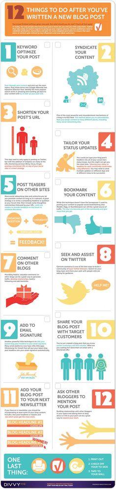 12 cosas que hacer después de publicar un post #Infografía