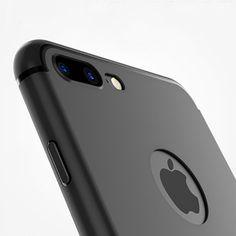 スリムシリコンケースのためのiphone 7 6 6 s 5 5 sカバーcoqueキャンディー色黒シェルソフトppマット電話ケースのためのapple iphone 7 plus