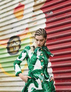 bam-ba bam-ba, Agustina Benvenuto in Dolce&Gabbana by Santiago Ruisenor for Elle Mexico, June 2016.