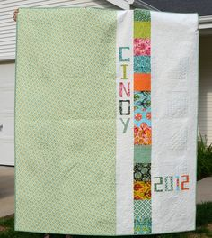 what an adorable idea for a child's quilt back