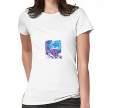 'Watercolor Red Fox With Red Balloon Heart' T-Shirt by Jennifer Sullivan Vetements T Shirt, Laptop Sleeves, Tshirt Colors, Female Models, Chiffon Tops, V Neck T Shirt, Classic T Shirts, T Shirts For Women, Tees