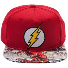 d5c92a64eb7 The Flash Snapback Cap ❤ liked on Polyvore featuring accessories