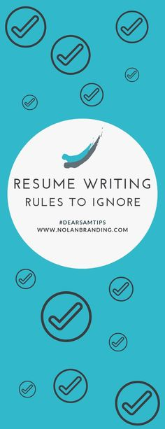 """Dear Sam: I hear such conflicting advice when it comes to resume """"rules."""" An expert weighs on on the actual rules in resume writing! Resume Tips No Experience, Resume Advice, Resume Writing Tips, Career Advice, Professional Resume Examples, Professional References, Cover Letter Tips, Cover Letters, Advice Nurse"""